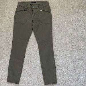Ann Taylor Moto Skinny Jeans Hunter Green Size 6